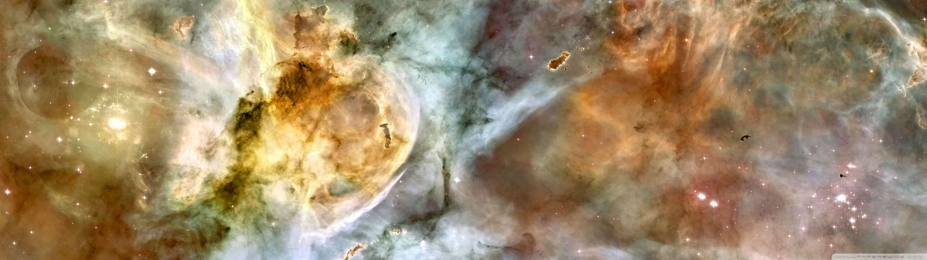 carina nebula dual monitor wallpaper