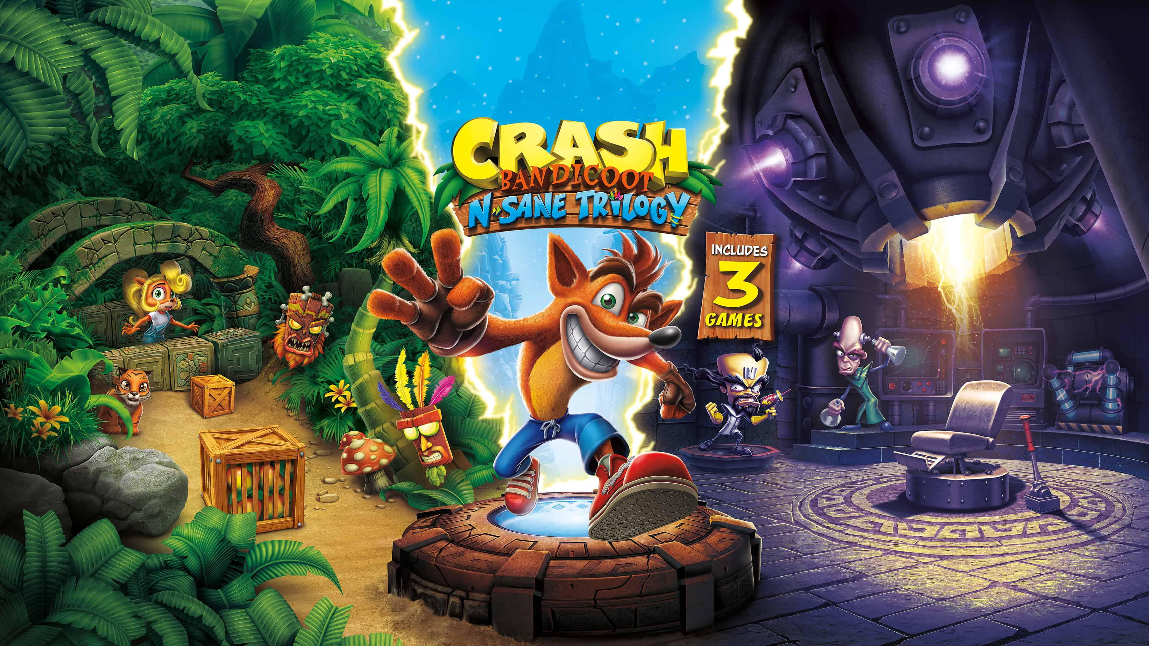 Crash Bandicoot N Sane Trilogy Uhd 4k Wallpaper Pixelz
