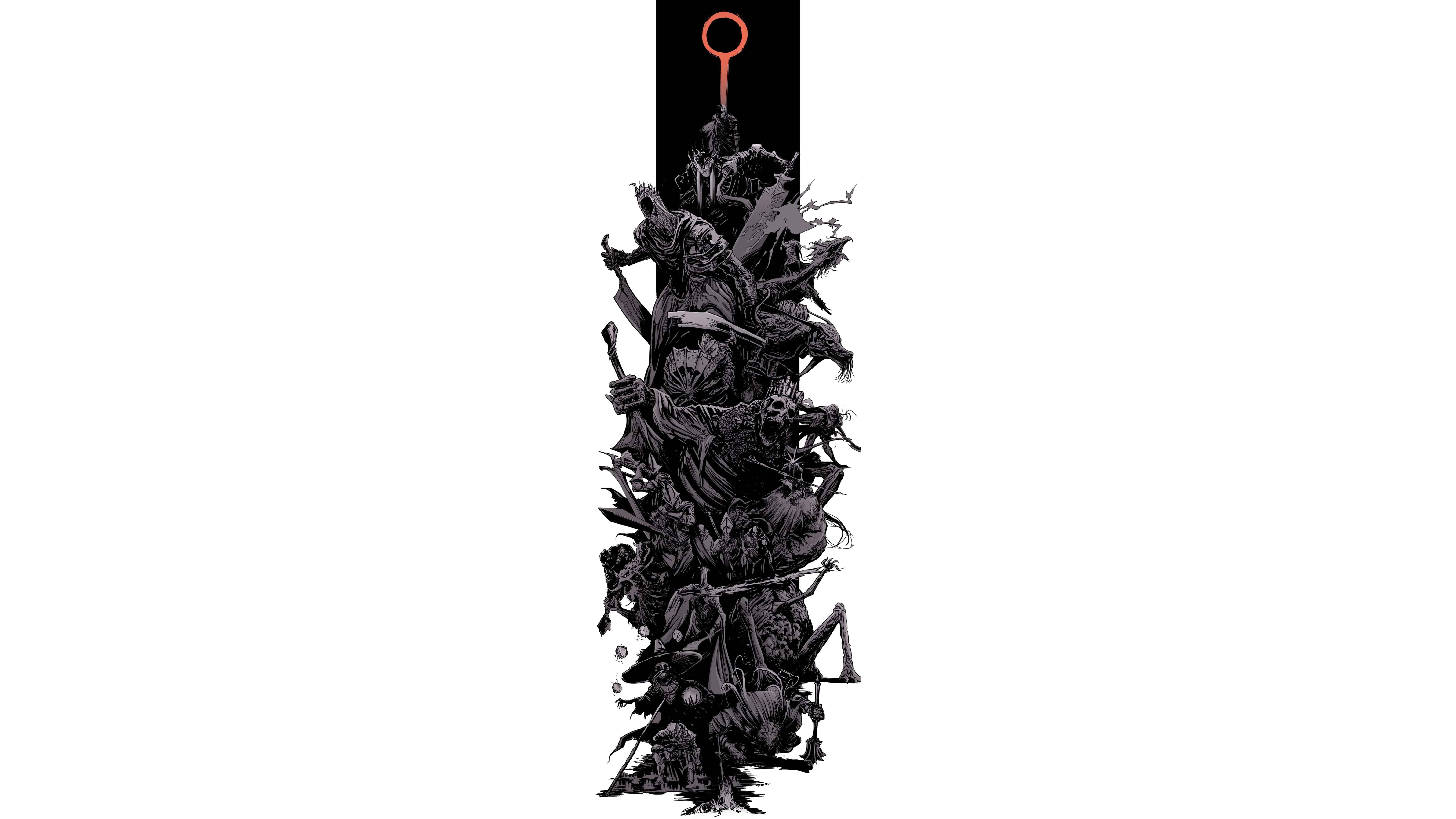 dark souls 3 bosses uhd 8k wallpaper
