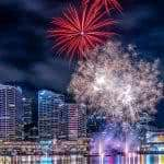 darling harbour fireworks sydney australia uhd 4k wallpaper