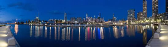 docklands harbor victoria australia dual monitor wallpaper