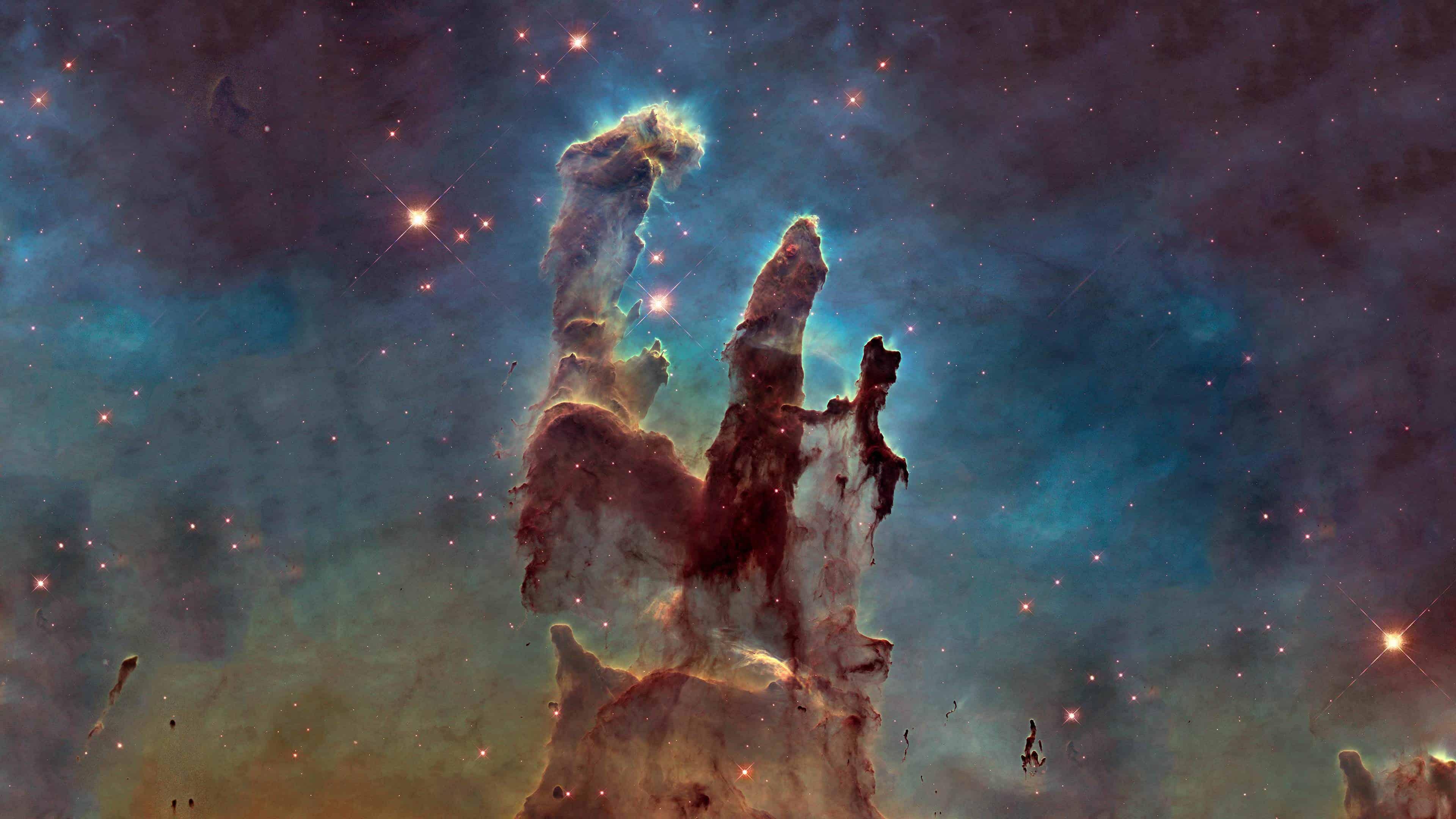 eagles nebula pillars of creation uhd 4k wallpaper