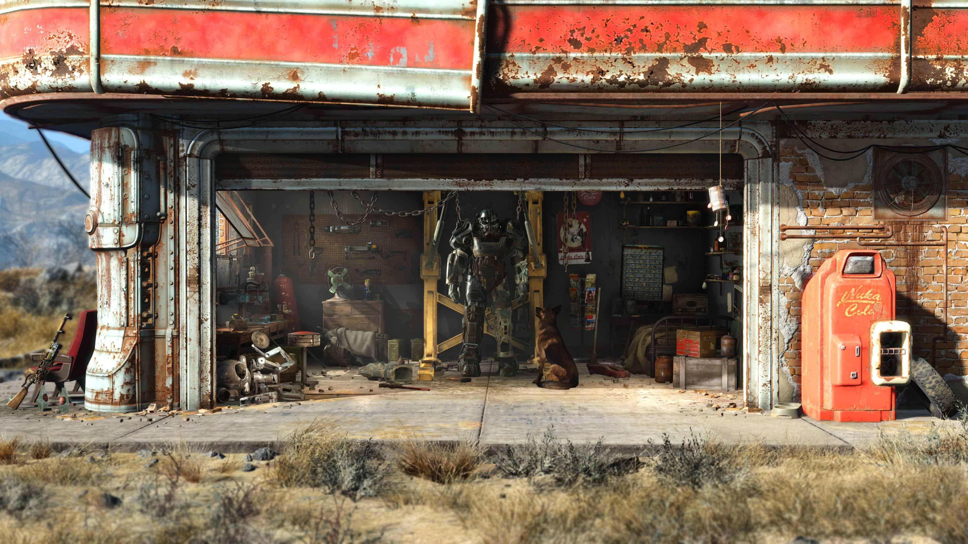 Fallout 4 Red Rocket Garage Uhd 4k Wallpaper Pixelz