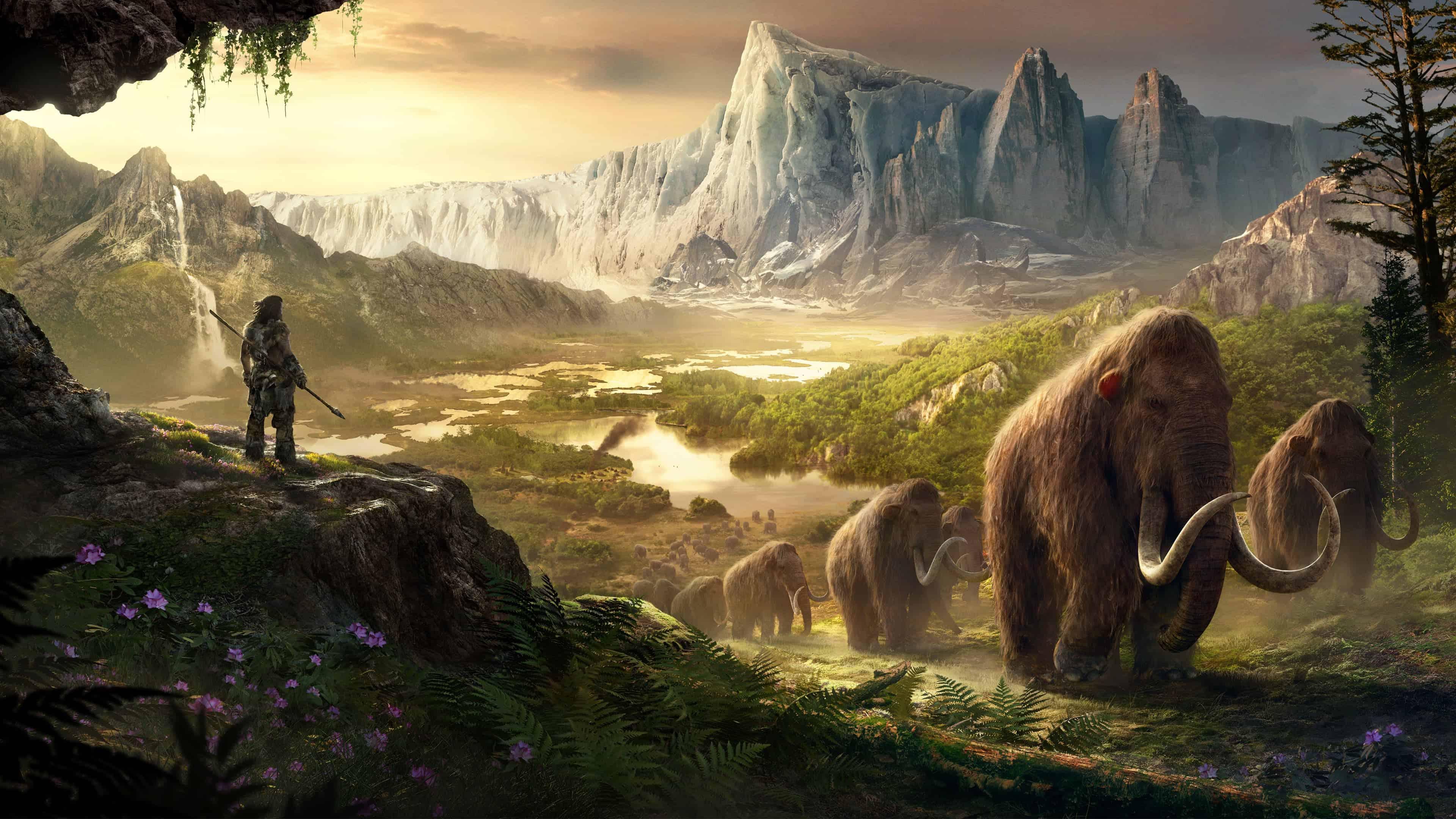 Far Cry Primal Mammoths UHD 4K Wallpaper | Pixelz