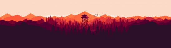 firewatch cover dual monitor wallpaper