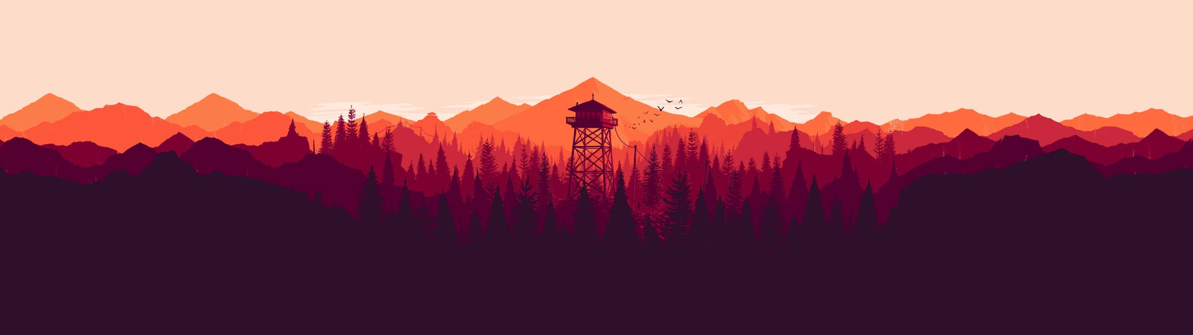 Firewatch Cover Dual Monitor Wallpaper Pixelz