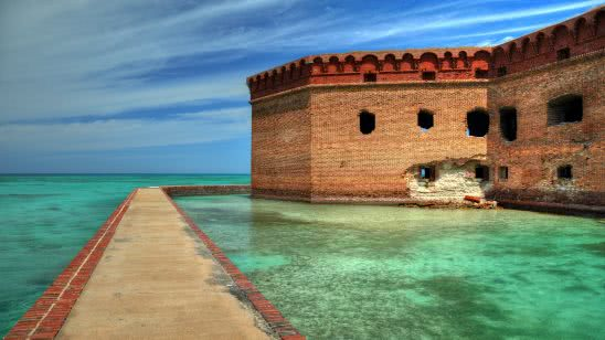 fort jefferson dry tortugas national park florida united states uhd 4k wallpaper