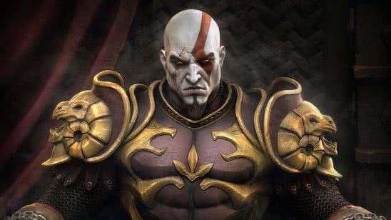 god of war kratos throne uhd 4k wallpaper