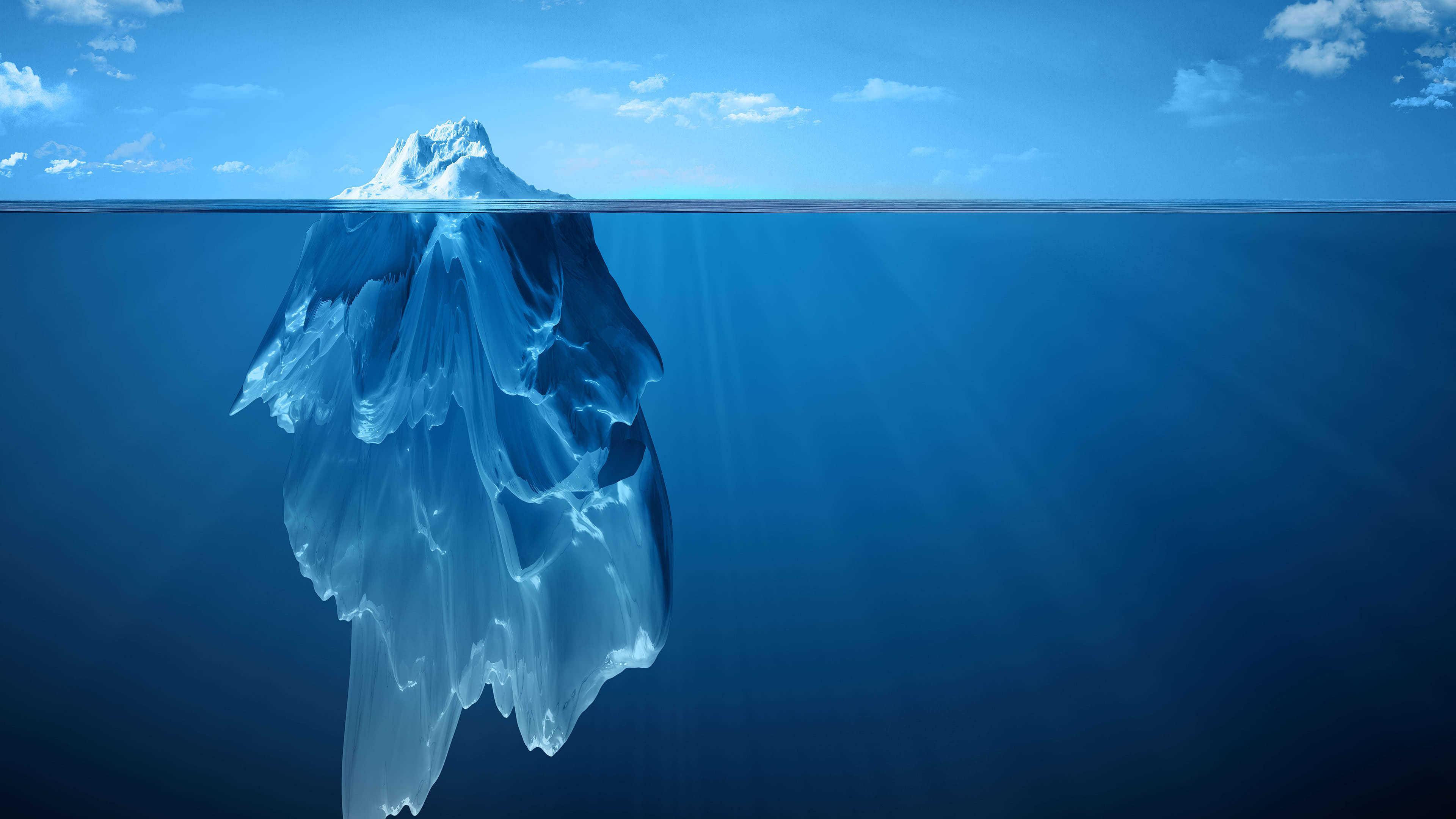iceberg uhd 4k wallpaper