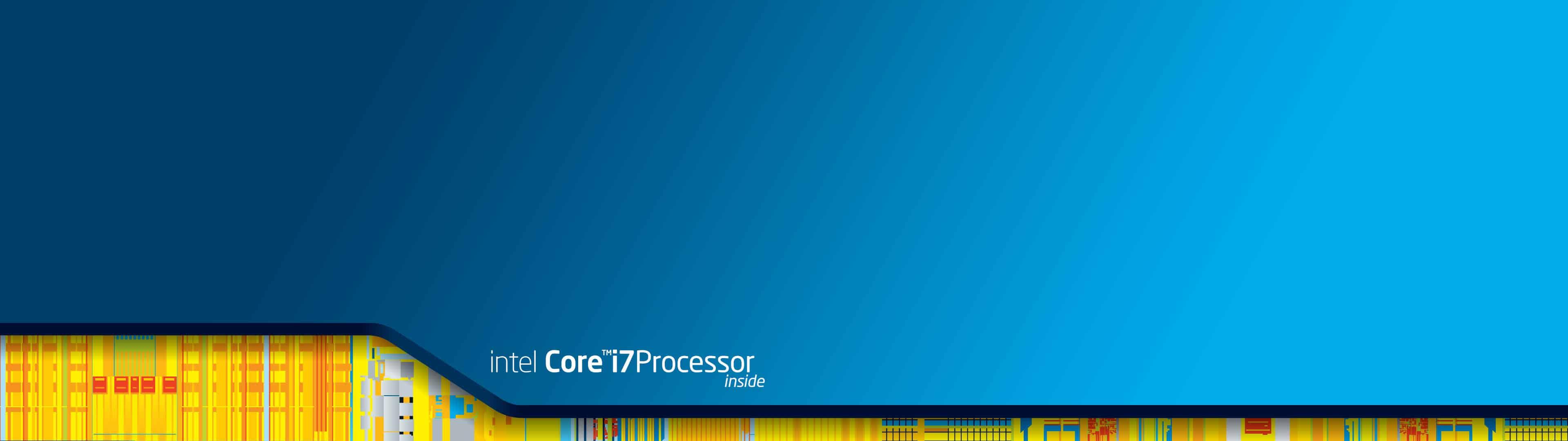 intel core i7 processor inside dual monitor wallpaper