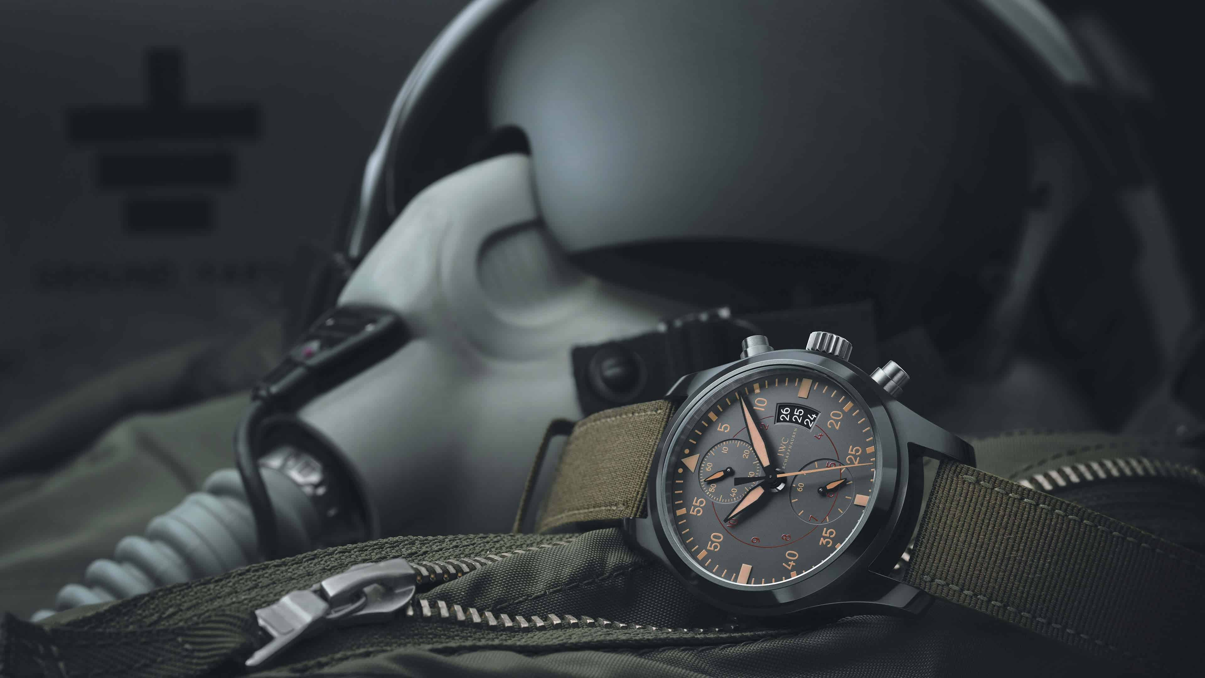 iwc pilot chronograph top gun miramar watch uhd 4k wallpaper