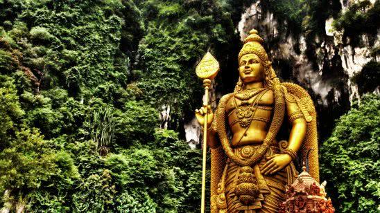kartikeya statue batu caves gombak malaysia uhd 4k wallpaper