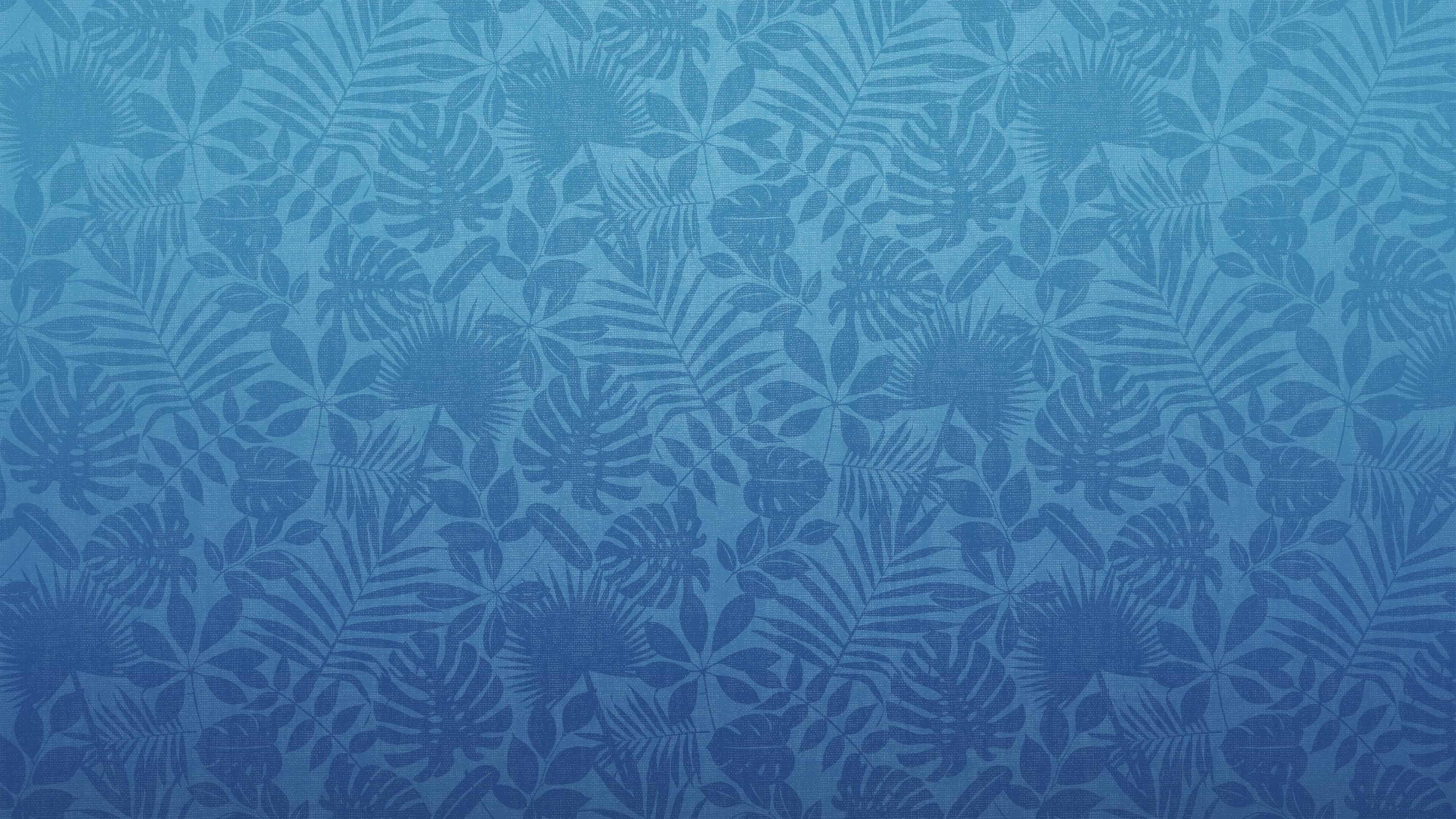 leaf pattern blue uhd 4k wallpaper