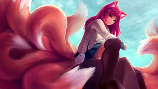 league of legends ahri uhd 8k wallpaper