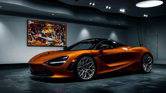 mclaren 720s vossen orange uhd 4k wallpaper