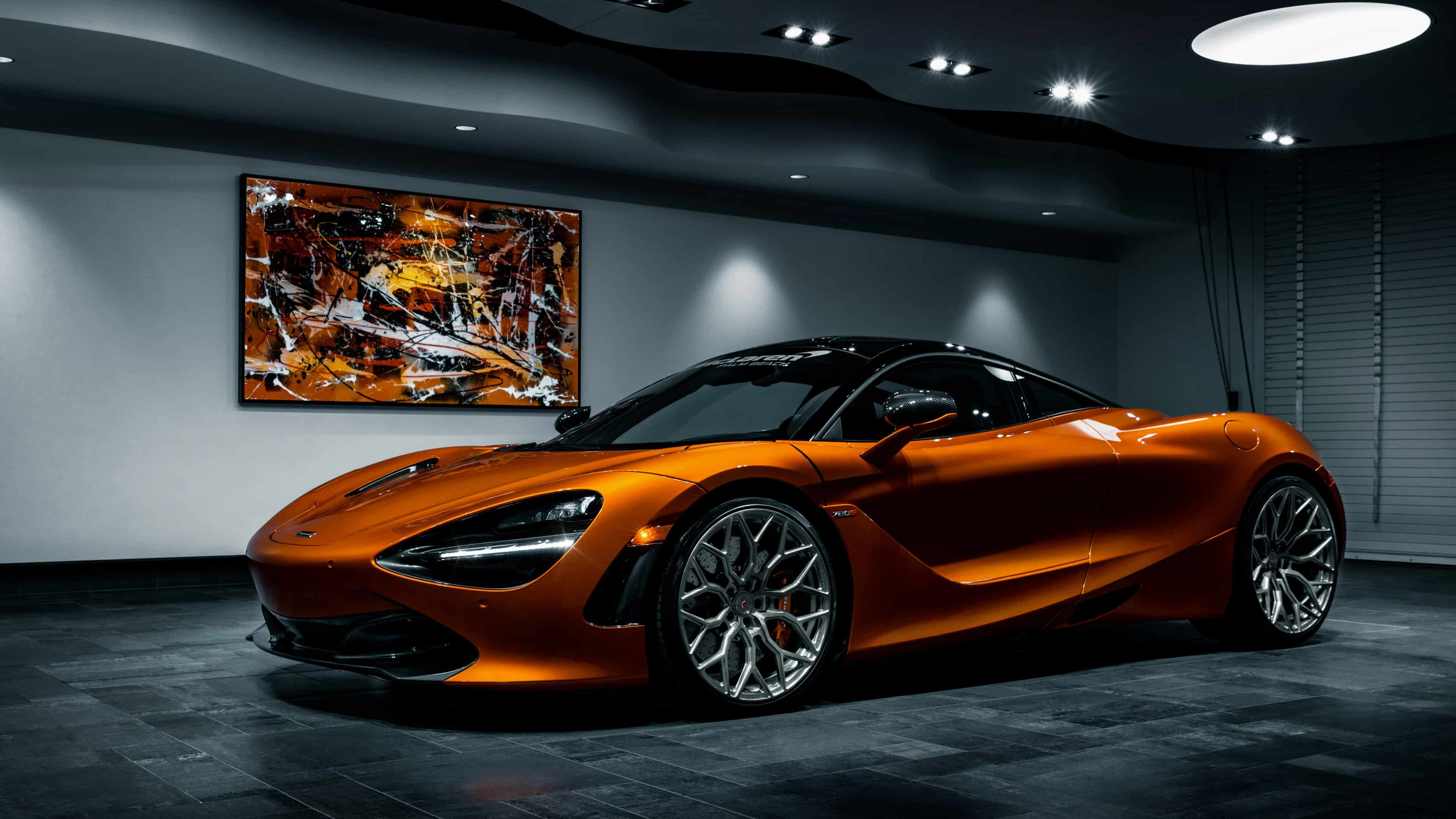 mclaren 720s vossen orange uhd 4k wallpaper