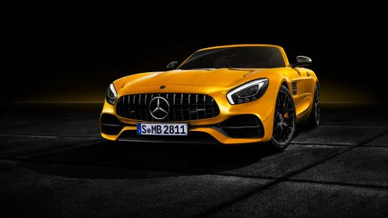 mercedes amg gt s roadster yellow uhd 4k wallpaper