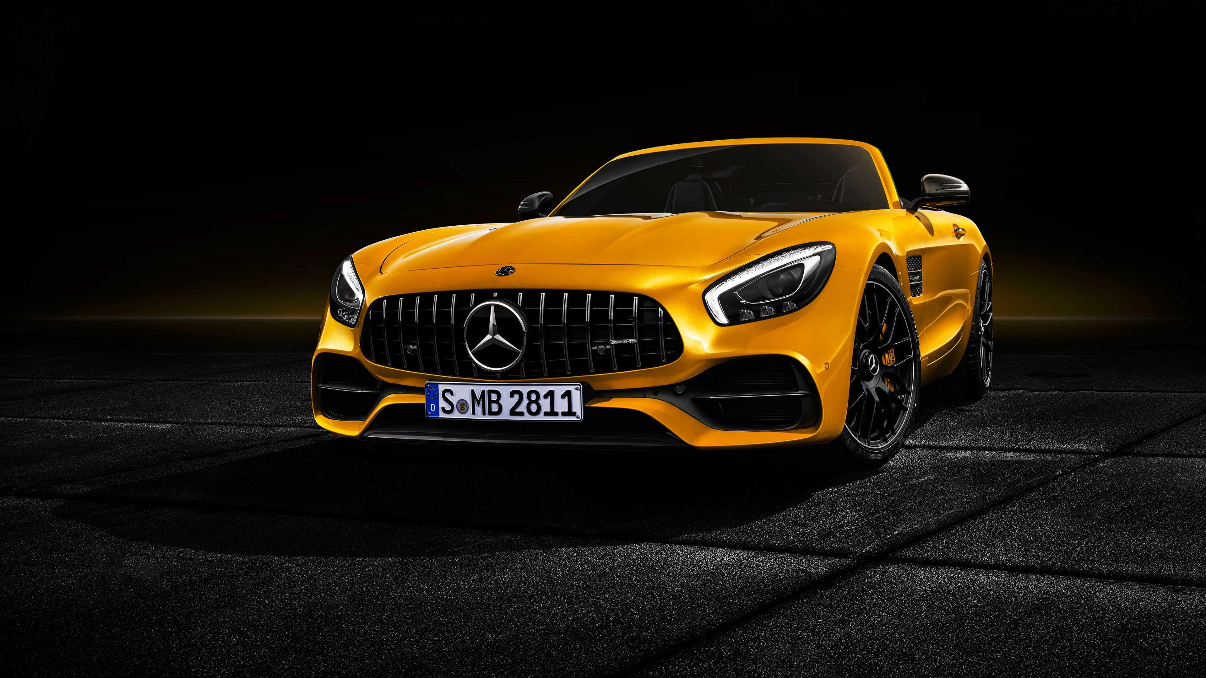 Mercedes AMG GT S Roadster Yellow UHD 4K Wallpaper   Pixelz