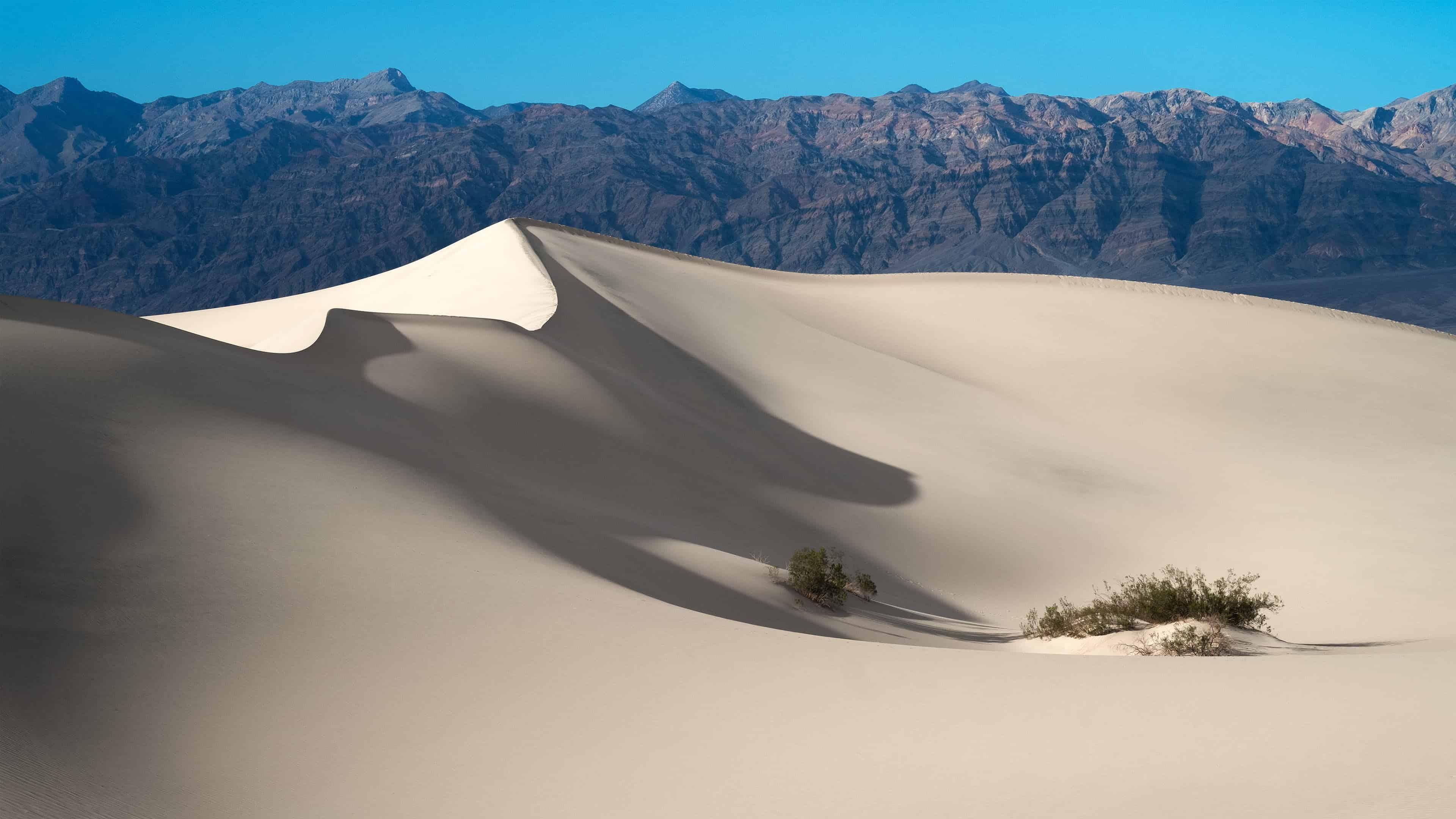 mesquite flat sand dunes death valley national park california united states uhd 4k wallpaper