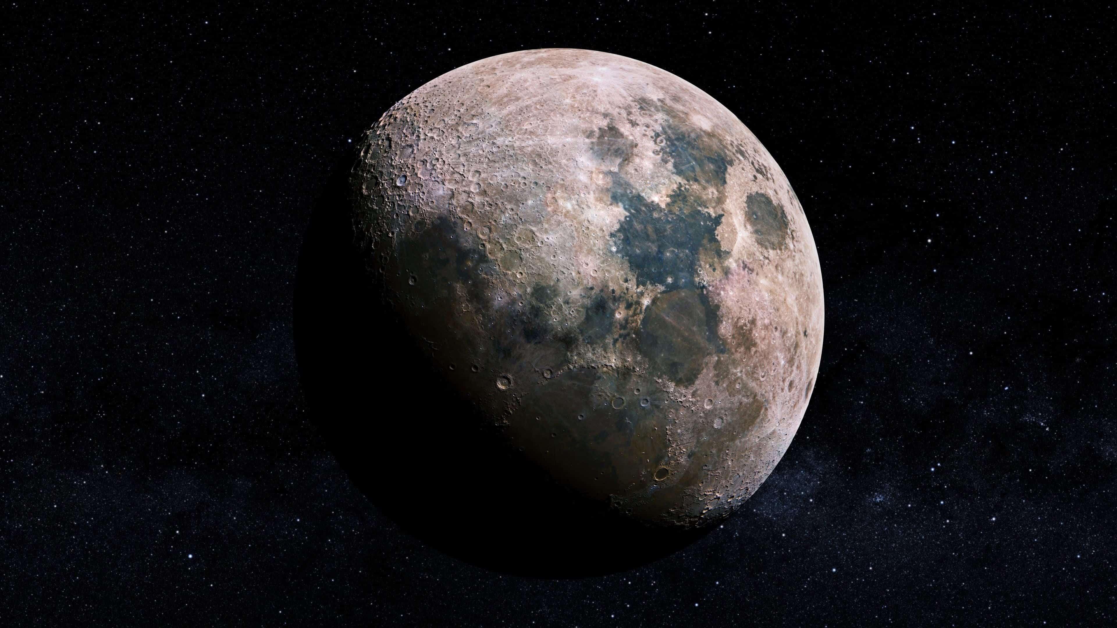 moon uhd 4k wallpaper