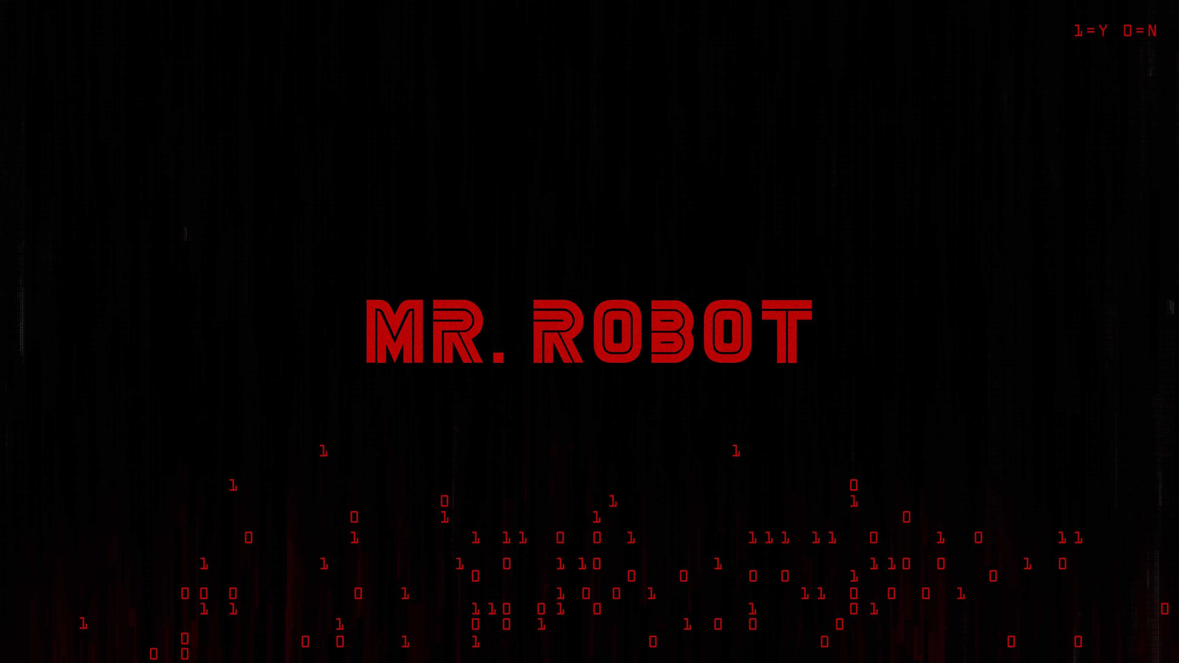 mr robot logo uhd 4k wallpaper