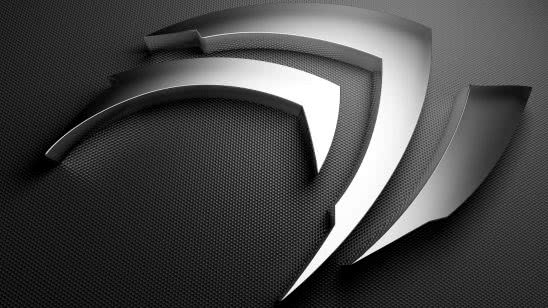 nvidia logo metalic uhd 4k wallpaper