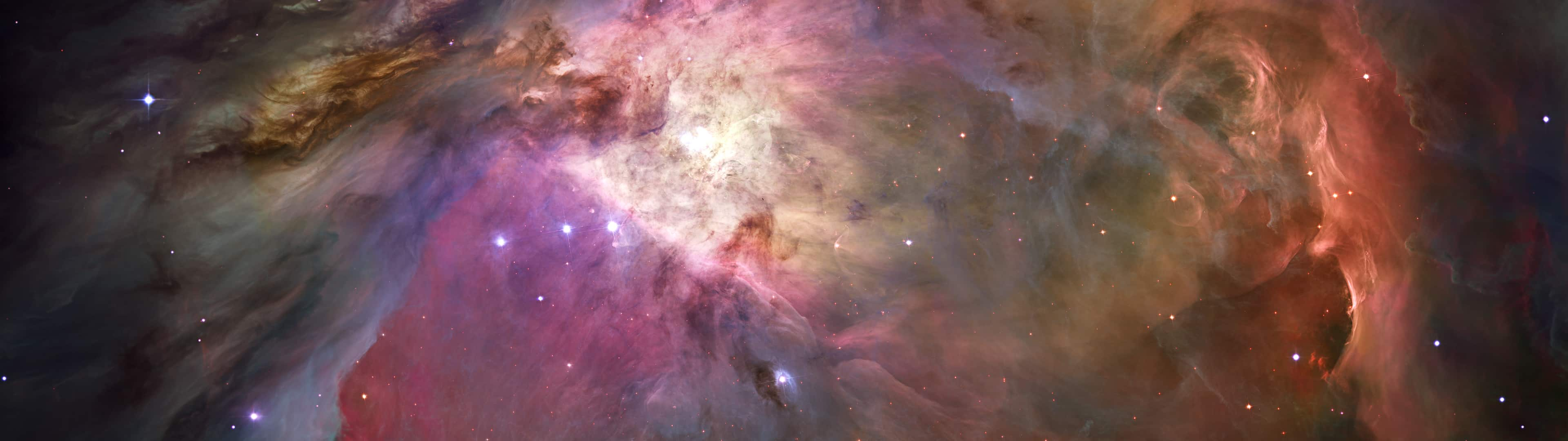 orion nebula dual monitora wallpaper
