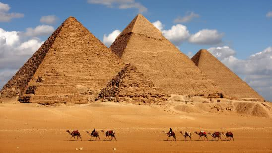 pyramids and camels egypt uhd 4k wallpaper