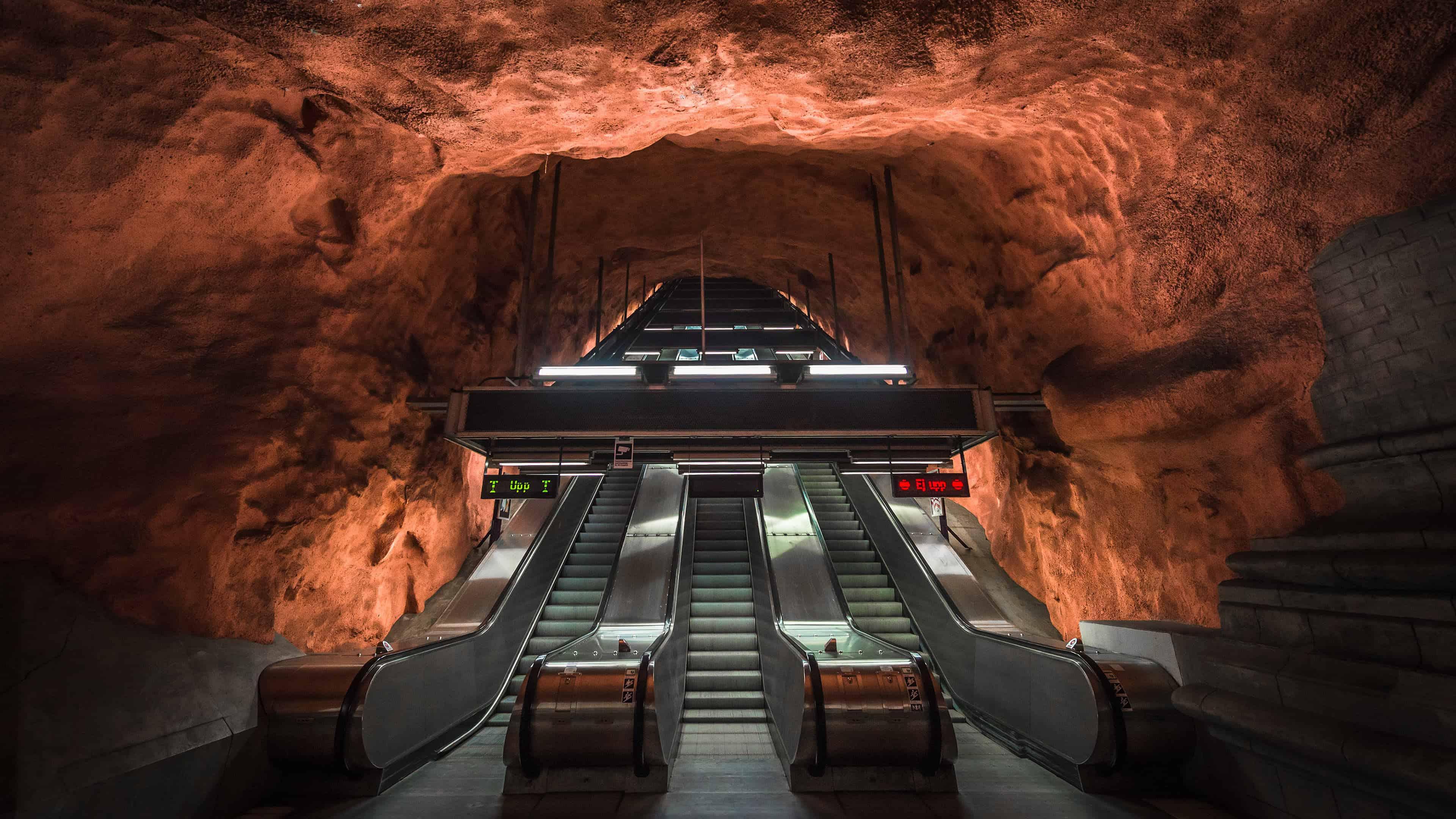 radhuset metro station stockholm sweden uhd 4k wallpaper