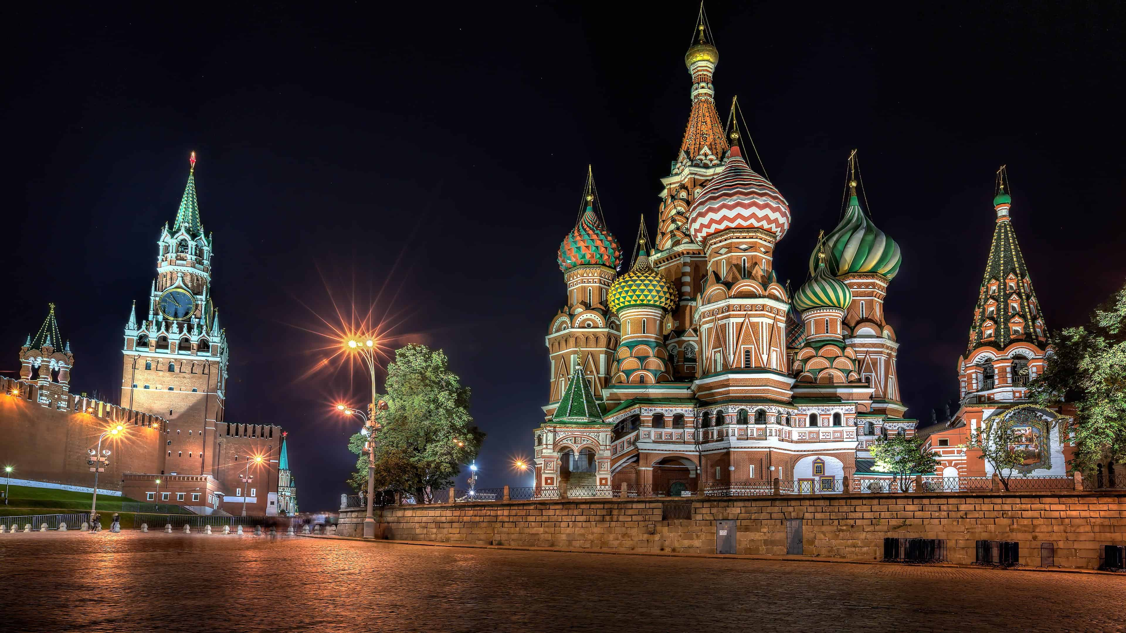 Red Square At Night Moscow Russia UHD 4K Wallpaper | Pixelz