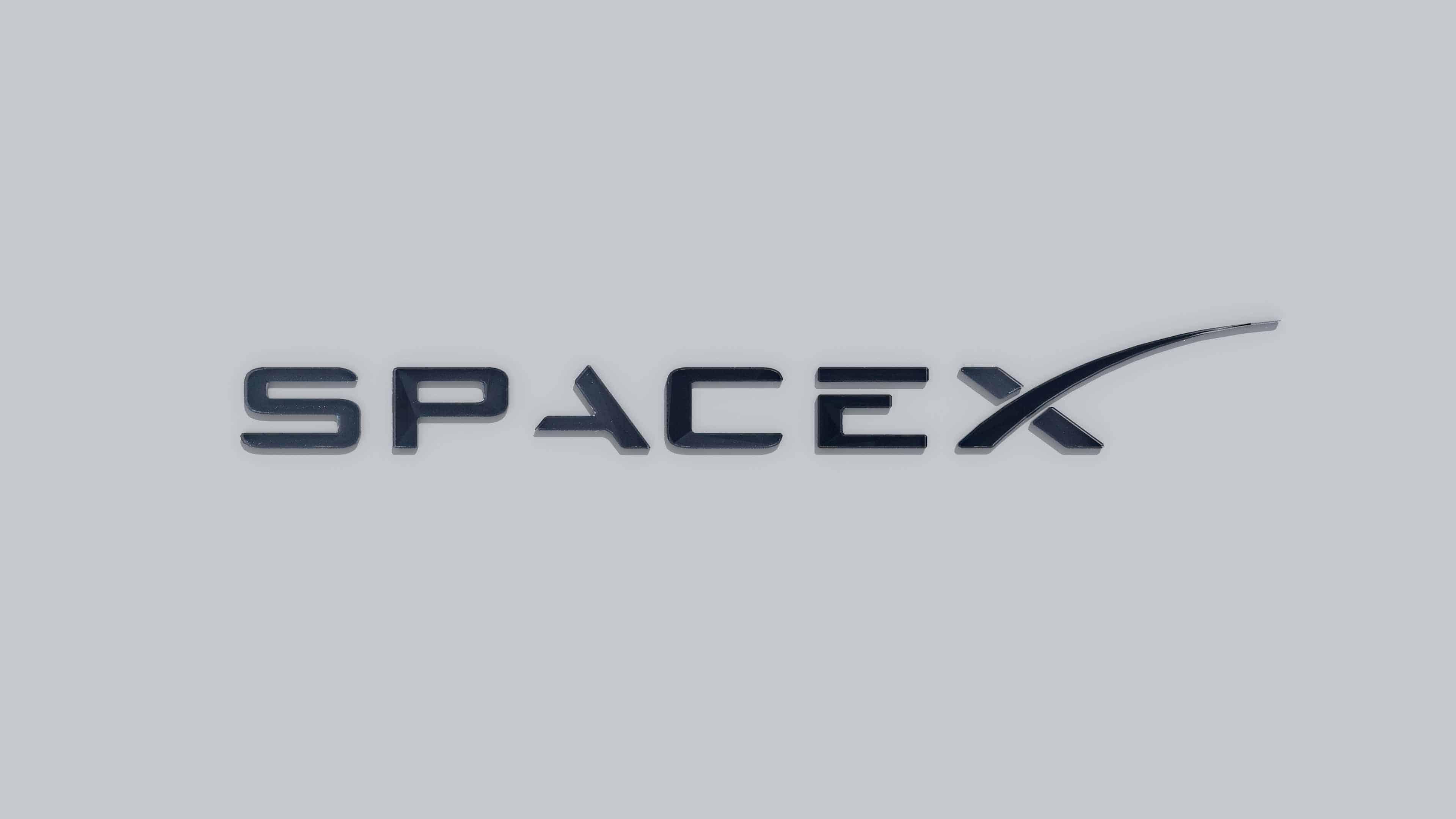 spacex logo uhd 4k wallpaper