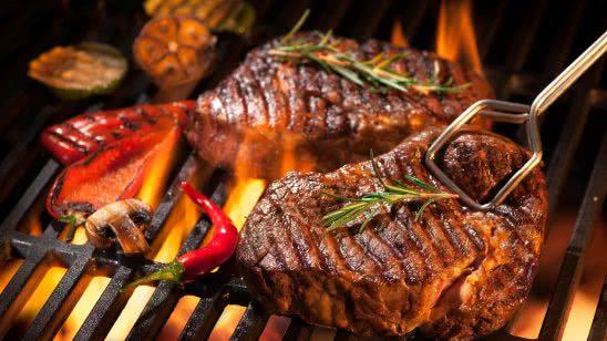 steaks on a grill uhd 4k wallpaper