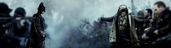 the dark night rises batman vs bane dual monitor wallpaper