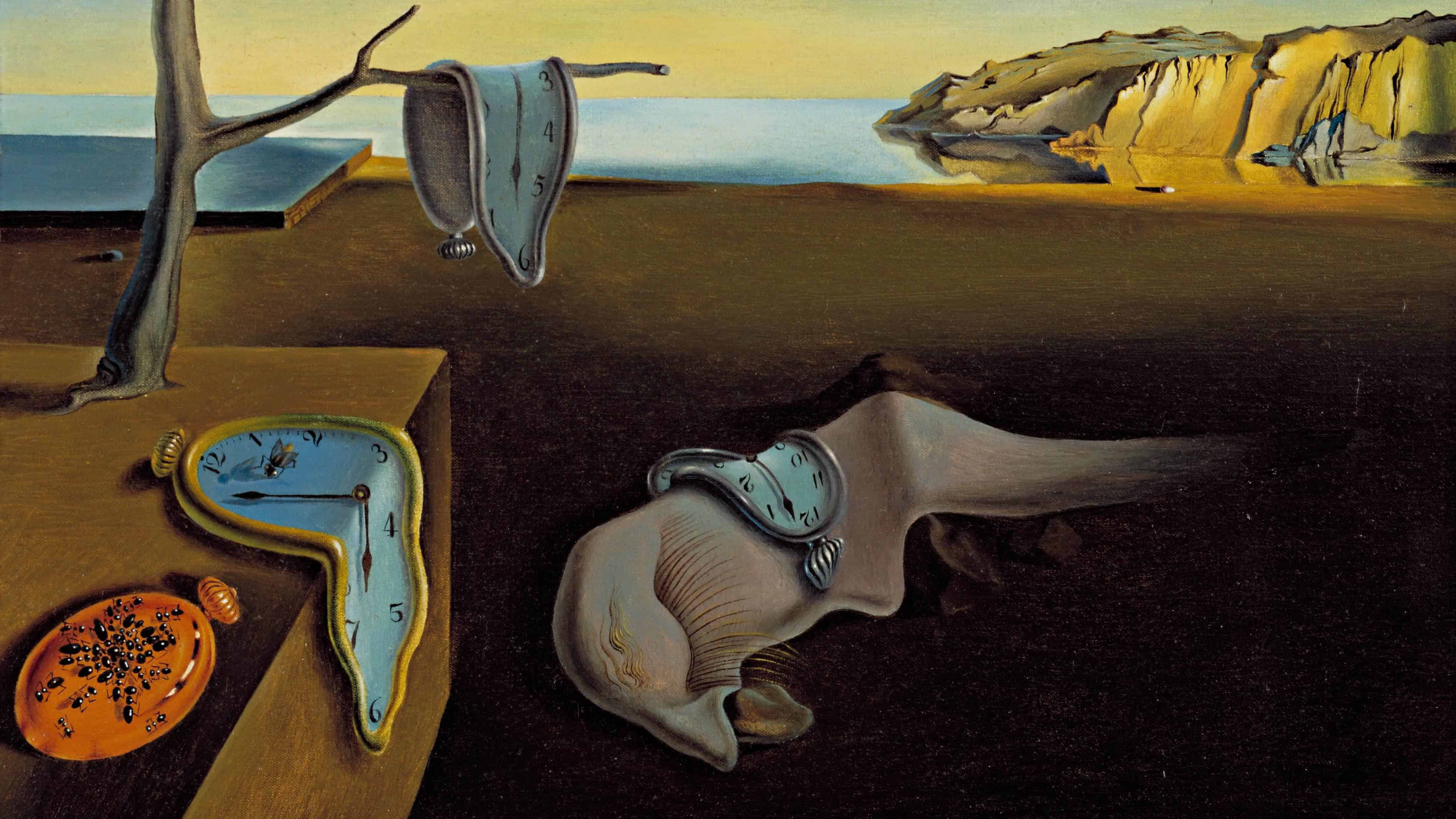 the persistence of memory painting by salvador dali uhd 4k wallpaper