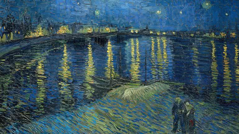 The starry night painting by vincent van gogh uhd 4k wallpaper pixelz - Hd wallpaper van gogh ...