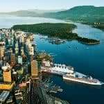 vancouver city canada aerial view uhd 4k wallpaper