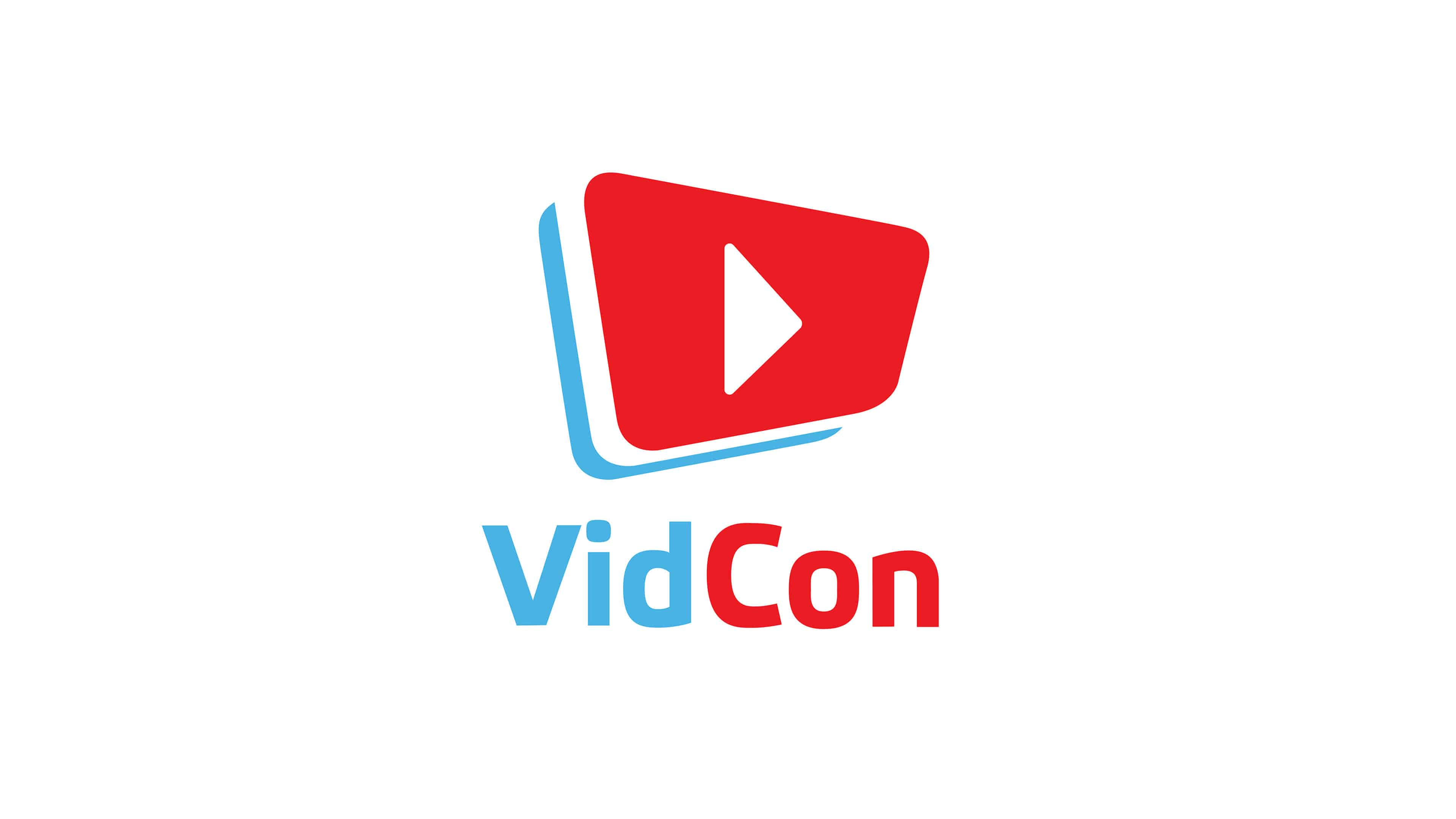 vidcon logo uhd 4k wallpaper
