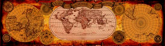 vintage world map dual monitor wallpaper