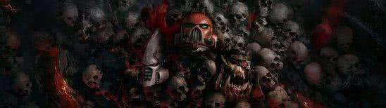 warhammer 40k dawn of war 3 skulls dual monitor wallpaper