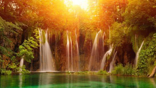 waterfall plitvice lakes national park uhd 4k wallpaper