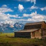 wooden barn wyoming united states uhd 4k wallpaper