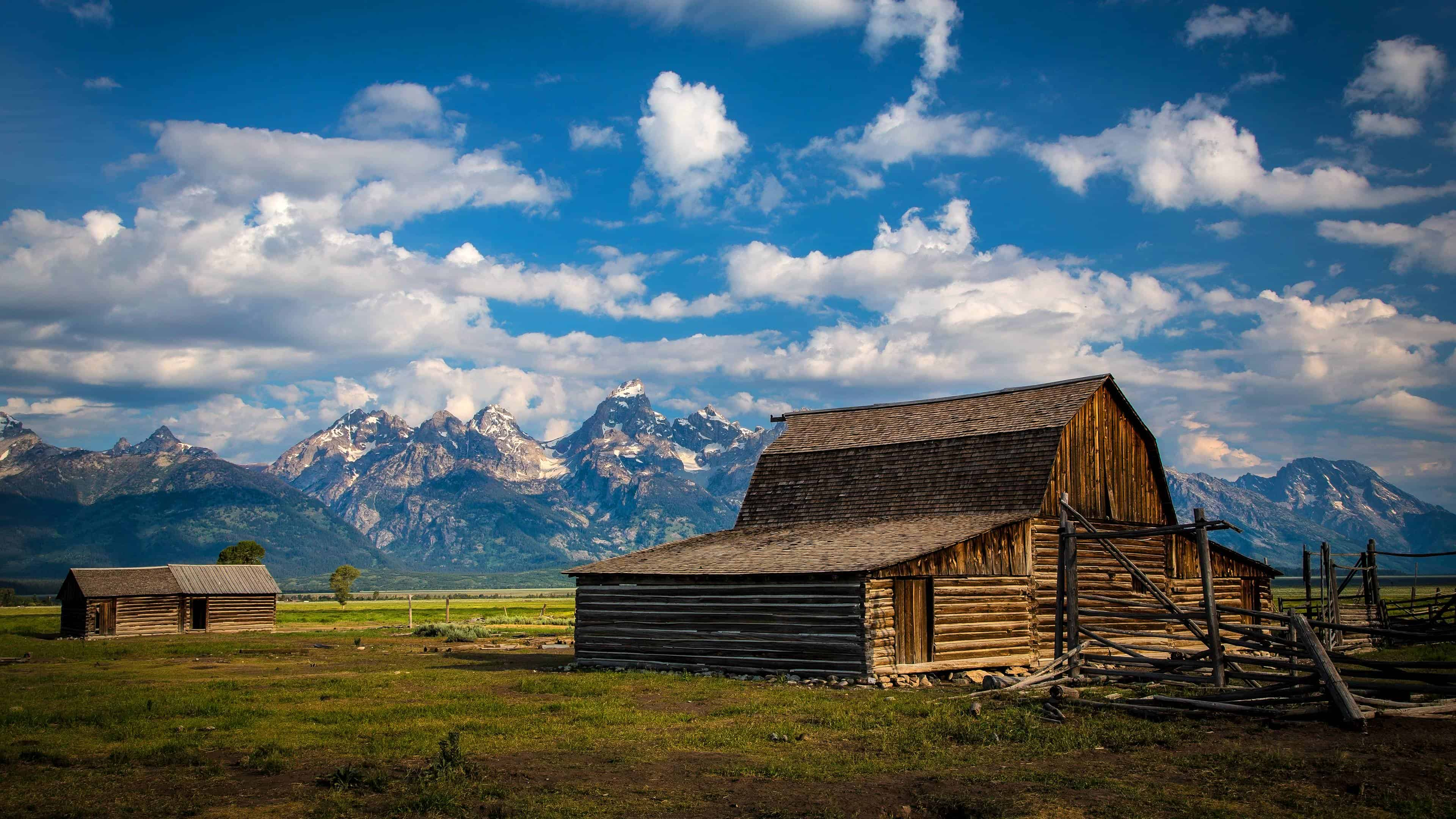 wooden barn wyoming united states uhd 4k wallpaper