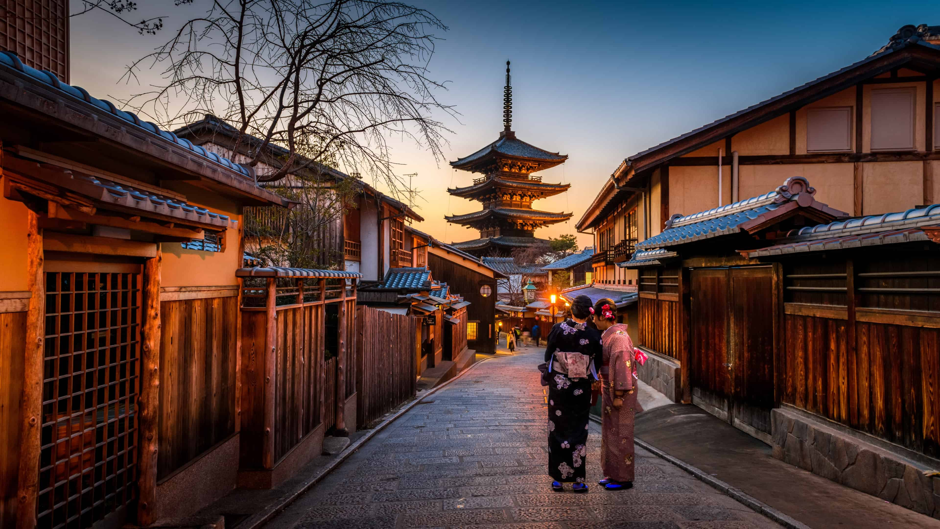 Yasaka Shrine Kyoto Japan Uhd 4k Wallpaper Pixelz - Architecture-design-in-kyoto-japan