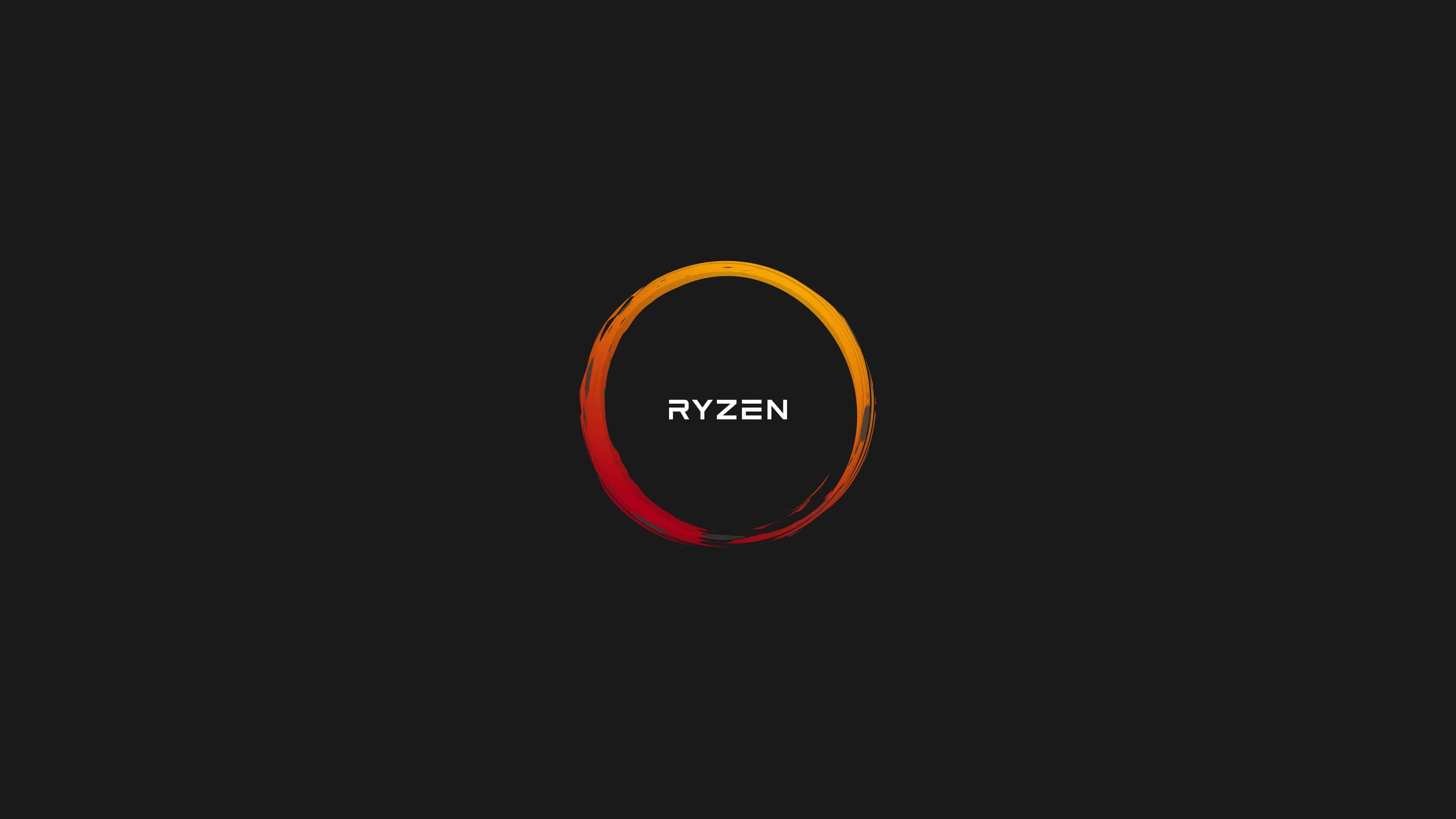 amd ryzen logo uhd 4k wallpaper