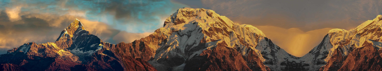 annapurna massif nepal triple monitor wallpaper