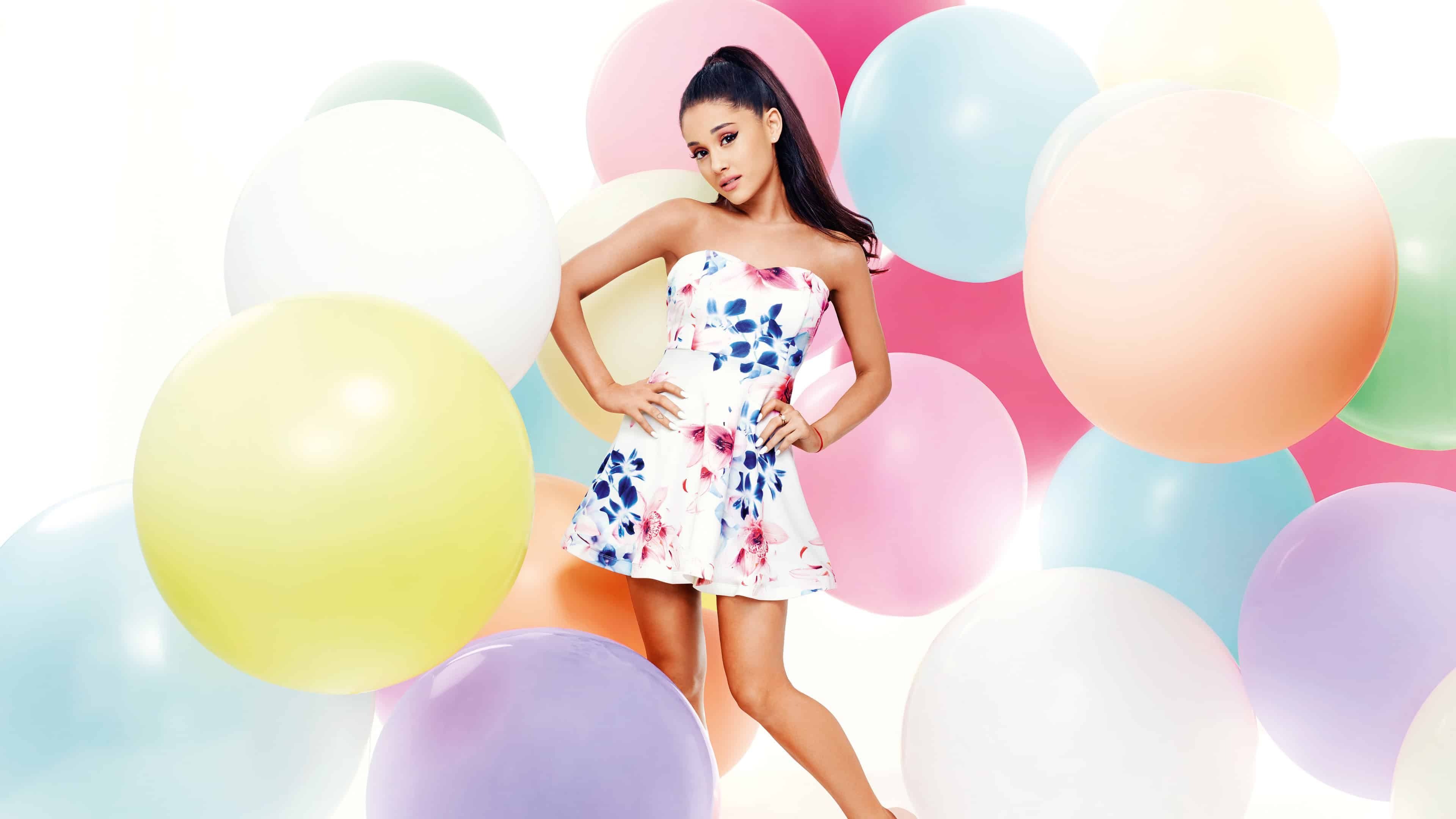 ariana grande colorful photoshoot uhd 4k wallpaper