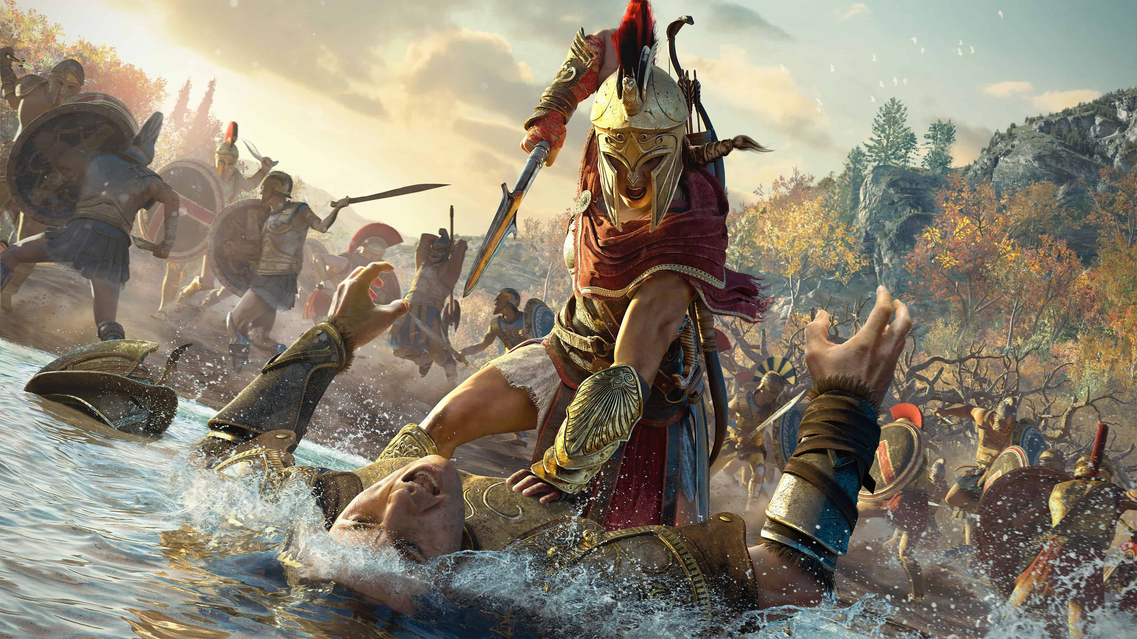assassins creed odyssey kassandra uhd 4k wallpaper
