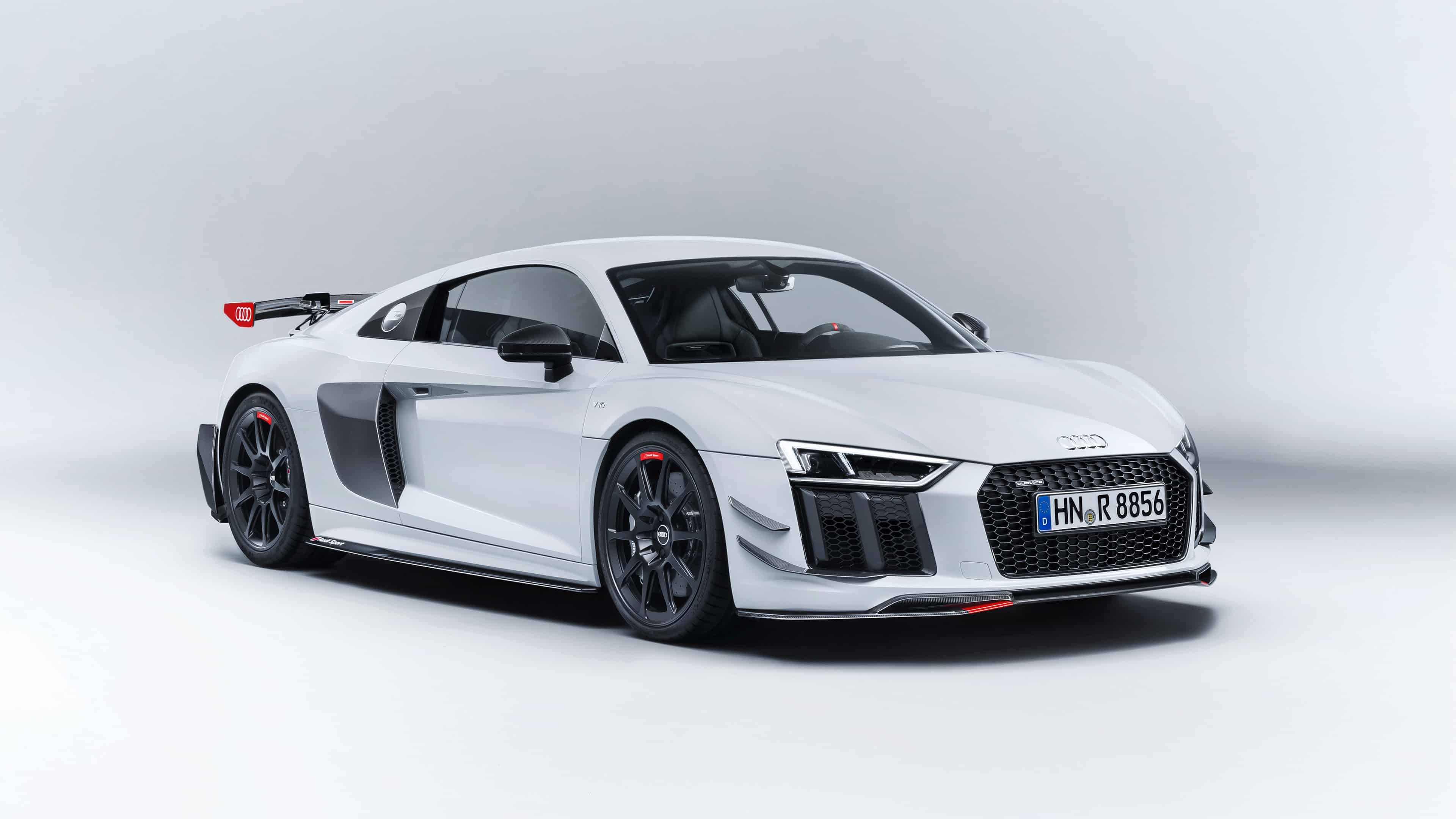audi r8 white uhd 4k wallpaper