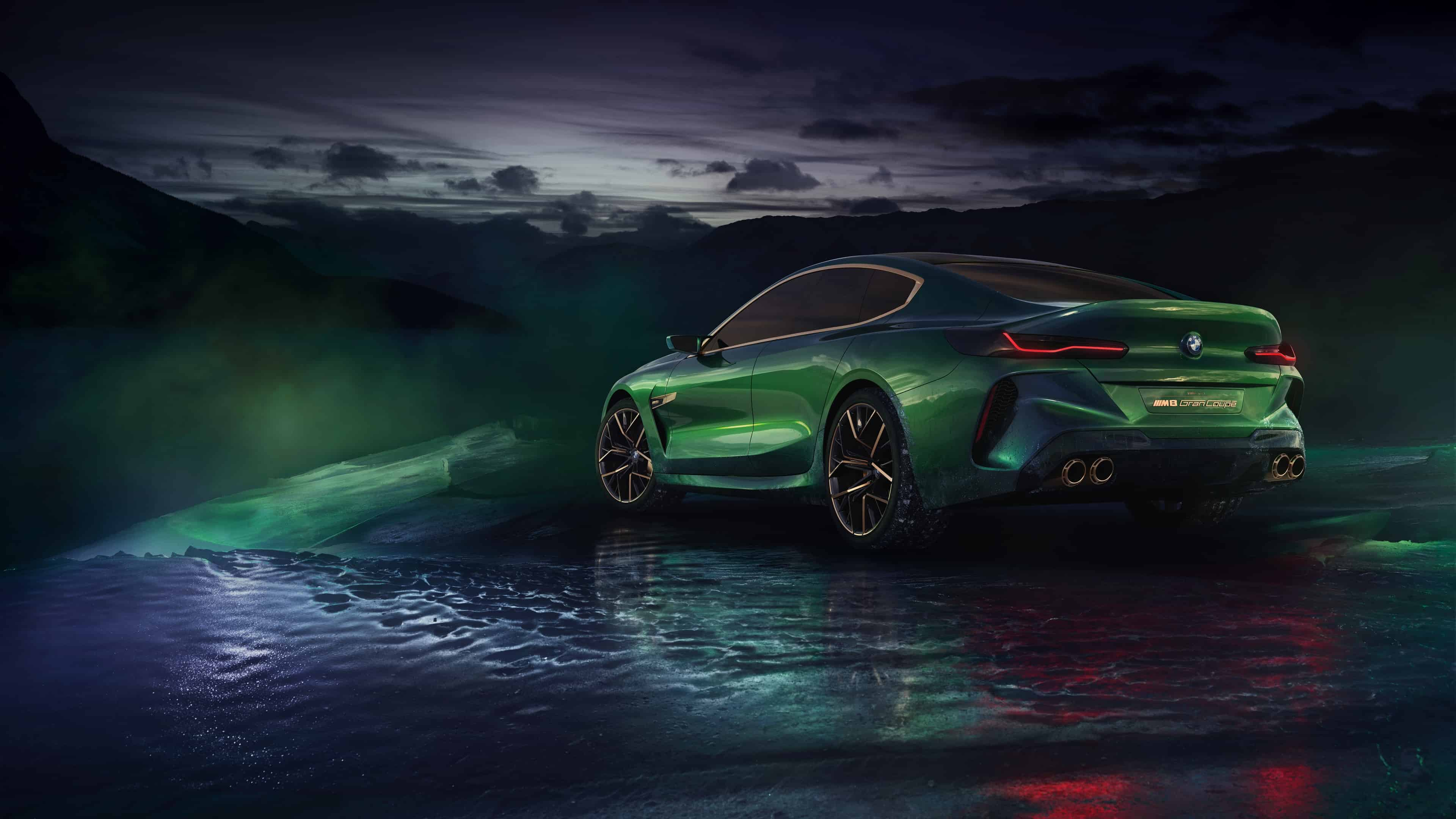 bmw concept m8 gran coupe back uhd 4k wallpaper
