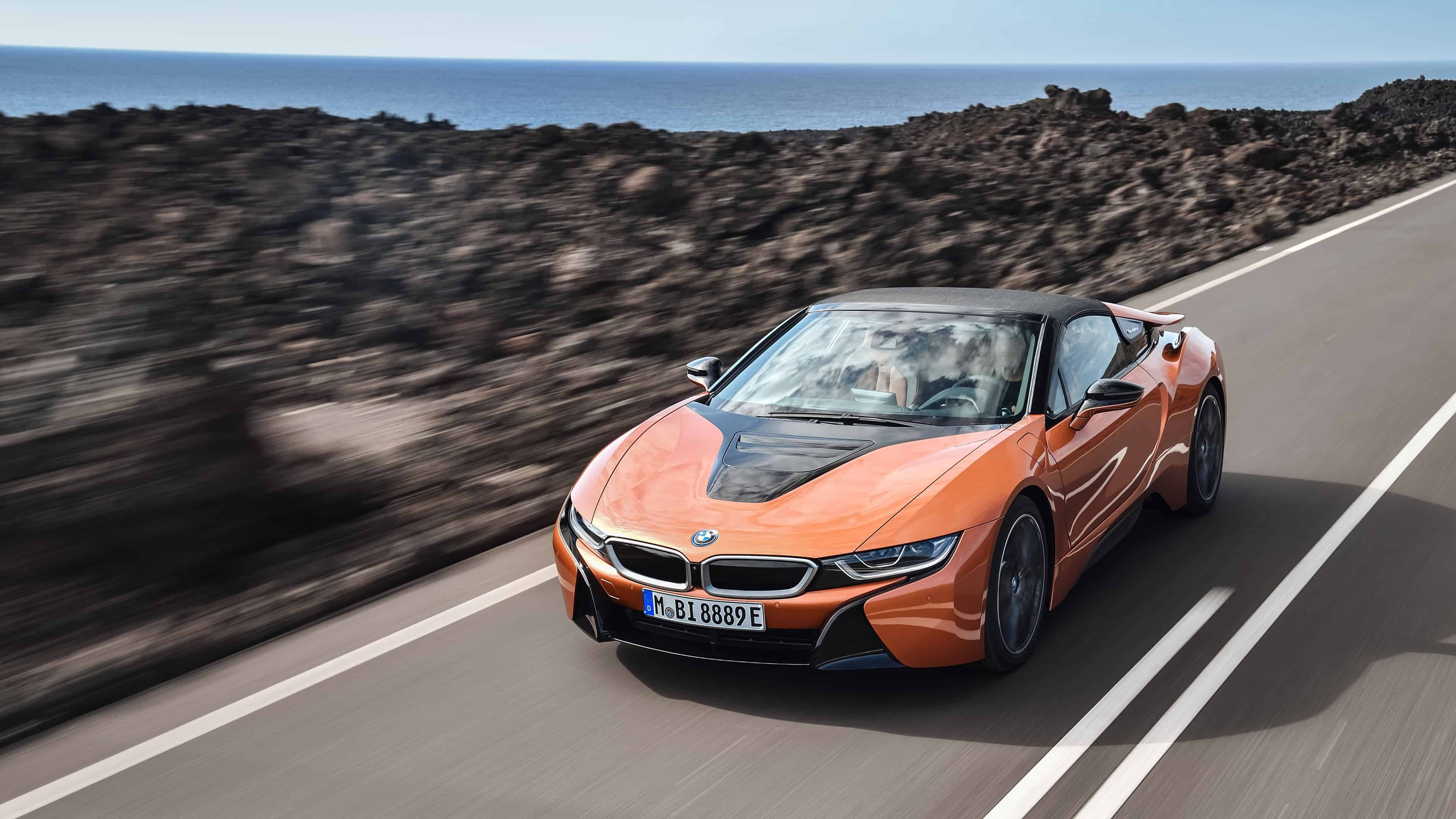 bmw i8 roadster uhd 4k wallpaper